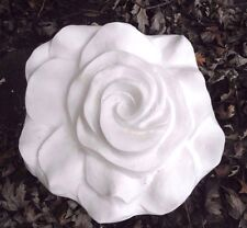 "Poly plastic rose flower mold plaster concrete mould 13"" x 12"" x 2.5"" in center"