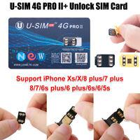 Perfect U-SIM 4G PRO II Unlock SIM Card For iPhone Xs X 8 7 6s plus iOS 12.2 13