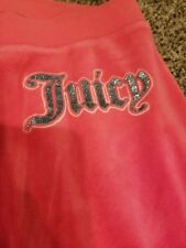 FASHION Juicy Couture  PINK Jogger Velour Track Sweat Pants Size Small S comfort