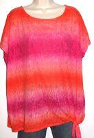 Lauren Ralph Lauren Women's Cap-Sleeve Pink & Orange Ombre Top Plus Size 3X NWT