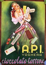 MANIFESTO AFFICHE POSTER,VINTAGE,ORIGINAL 1955,CIOCCOLATO TORRONE API VOGHERA