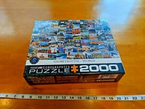 "NEW SEALED EUROGRAPHIC Puzzle GLOBETROTTER WORLD 2000 Piece 39 1/4"" x 26 5/8"""