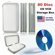 80 Disc DVD CD Storage CD Holder Carry Bag DJ Case Storage Holder Organizer Box