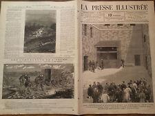 """LA PRESSE ILLUSTREE 1877 N° 502  """"UNE EXECUTION A LONDRES"""""""