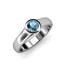 Blue Topaz Solitaire Engagement Ring 0.80 ct in 14K Gold JP:82949