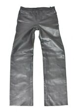 Black Real Leather HEIN GERICKE Straight Leg Biker Boys Trousers Pants Size 12y
