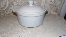 VINTAGE DENBY CASSEROLE WITH LID MADE IN ENGLAND HANDCRAFTED GRAY WHITE