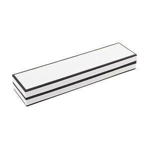 Luxury Bracelet Box White with Black Edge.Engagement Proposal Gift Storage