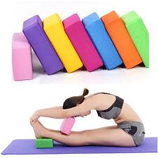 Bloque Ladrillo Espuma EVA Yoga Caliente Casa estiramiento Ejercicio Gimnasio 7.6*15.2*22.8 Cm