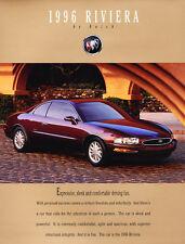 1996 Buick Riviera Original Car Sales Brochure Catalog