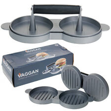 Vaggan Quarter Pound Double Burger Press Traditional Meat Fish Chicken Vegetable