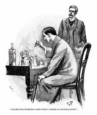 Sherlock Holmes in The Adventure of the Naval Treaty drawn by Sidney Paget