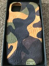 ROBERU iPhone 11 Pro Max Case Italy Camouflage Leather Brown MADE IN JAPAN