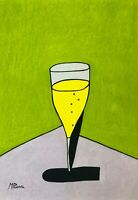 MICK PLOHL - Champagne - Original Artwork - Free Shipping Worldwide