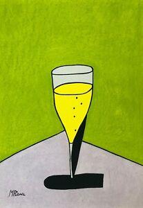MICK PLOHL - Champagne 60 - Original Artwork - Free Shipping