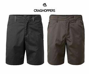 Craghoppers Men's Kiwi Shorts In Black Or Bark For Walking & Hiking CMJ524