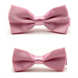 Men Kids Boys Bowtie Solid Color Adjustable Bow Tie Wedding Party Business