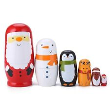 Matryoshka 6 pcs. Russian national wooden doll. Exclusive wooden doll. 6 in 1