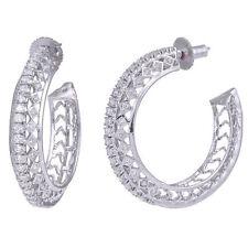 Cubic Zirconia Hoop Designer CZ Earrings Free Shipping