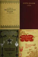 125 RARE BOOKS ON SECRET SOCIETIES, FORBIDDEN HISTORY, ILLUMINATI, TEMPLE ON DVD