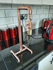 Copper pipe table lamp retro vintage