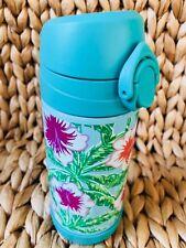 New Pottery Barn Kids Aqua Floral Palm Medium Water Bottle Flower NWT Mackenzie