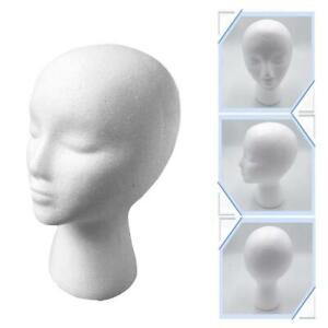 Polystyrene Unisex Foam Mannequin Head Display Model Dummy Female Wigs Stand UK