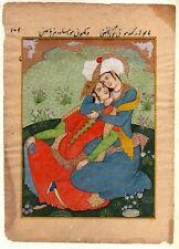 Hand-Painted Persian Miniature Painting A Persian Love Affair Gouache Artwork
