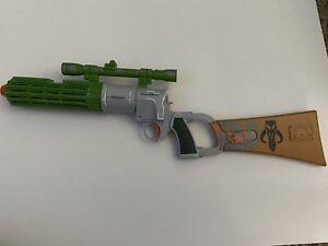 -2009 Hasbro Star Wars Boba Fett Blaster Lights & Sounds Works! Mandalorian Rare