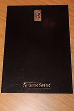 Rolls Royce Silver Spur Sales Brochure 1980