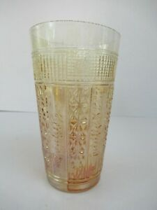 """Antique Jain Indian Carnival Glass Tumblers Embroidered Panels With Rose """"F023"""
