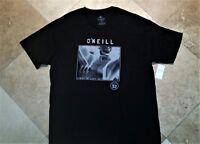 *NWT O'neill Modern Fit Short Sleeve Graphic Tee Shirt 100% Cotton Black XL