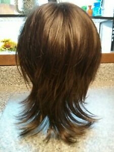 Wig Med Shag Wispy Feathery TressAlure Avg. sz Natural Capless Walnut 10R