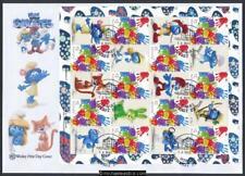14-Mar-2017 Australia Smurfs Mini Sheet Wesley Souvenir Cover (a)