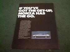 July 1978 / 1979 OPEL MONZA - UK 6 PAGE COLOUR FOLDER BROCHURE
