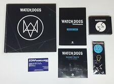 Watch Dogs Extras edición Dedsec. Libro Arte, BSO, Chapas, Tarjetas, Mapa.