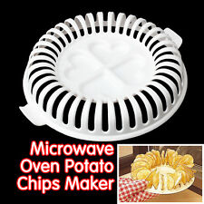 Microwave DIY Apple Potato Vegetable Crisp Chip Slicer Maker Health Kitchen Bake