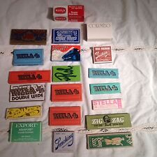 Lot of 19 Vintage Tobacco Rolling Papers 1 Rizla Super Express Machine Vintage