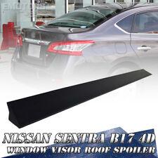 4D Sedan FOR Nissan Sentra 7th B17 Window Visor Roof Spoiler PUF Paint Color SR