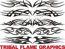 A TRIBAL FLAME Window Graphics Sticker Decal Front Rear
