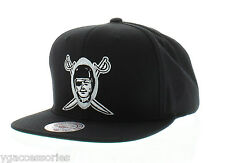 NFL Oakland Raiders Mitchell and Ness Vintage Snapback Cap Hat M&N XL Logo NEW!!