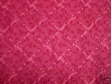 Burgundy Floral Diagonal Trellis Fat Quarter Cotton