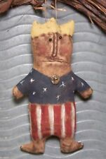 EXTREME PRIMITIVE RAGGEDY LADY LIBERTY TUCK OR ORNIE PATTERN MAILED EASY!!