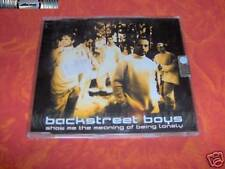 Backstreet boys -Show me the meaning of being lonely CDs NUOVO