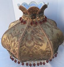 BEAUTIFUL Victorian Style Fabric Floor Lamp Shade