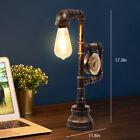 Steampunk Industrial Water Pipe Reading Table Lamp Bedside Light Desk Light 110V