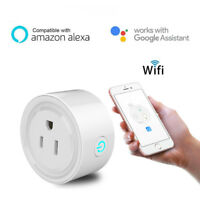 WiFi Smart Power Plug Outlet Socket for Alexa&Google Home Remote Control Timer