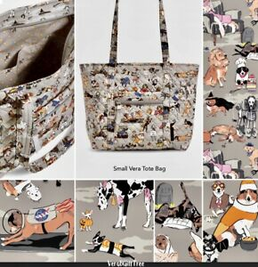 VERA BRADLEY Small Vera Tote HOWL-O-WEEN DOGS Halloween BEST IN SHOW DOG NWT New