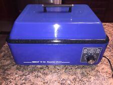 Vintage Nesco 12 Quart Blue Metal Enamel Ware Roaster Oven Electric Cooker
