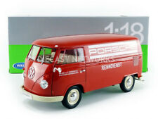 WELLY - 1/18 - VOLKSWAGEN COMBI T1 BUS PANEL VAN - 1963 - PORSCHE RENNDIENST - 1